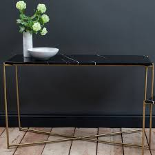 Brass Table Ls Large Console Table Black Marble With Brass Frame Collection