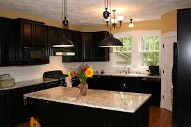 yellow kitchen color ideas horizontal metal handling black