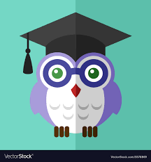 graduation owl graduation owl student icon flat sign symbol logo vector image