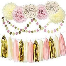 paper decorations bridal shower decorations tissue pom pom pink