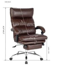 amazon com viva office deluxe bonded leather reclining chair with