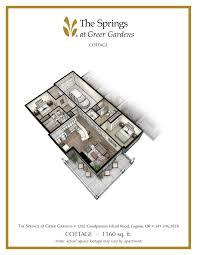 senior apartment floor plans springs at greer gardens