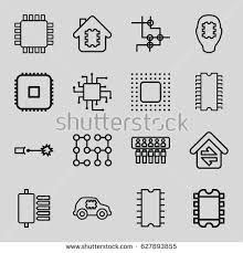 circuit icons set set 9 circuit stock vector 653902441 shutterstock