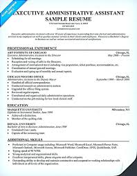 executive assistant resume template executive assistant resume resume templates for college