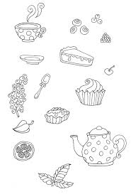 create a tea party seamless pattern from a sketch in adobe illustrator