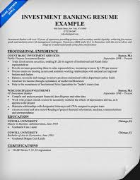 Investment Bank Resume Template Investment Banking Resume Example Cbshow Co