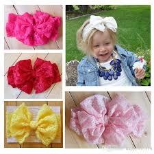 lace headbands 2015 baby girl lace big bow headband stretch lace bow headbands