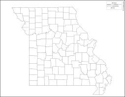 Blank County Map by Missouri Free Map Free Blank Map Free Outline Map Free Base