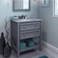 Elements Bathroom Furniture Adler Bath Elements Bathroom Vanity With White Marble Top