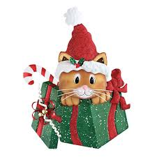 christmas boxes christmas gift box cat wall decor garden outdoor