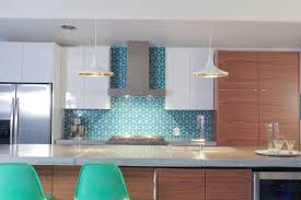 diamond tiles in lagoon set in an escher pattern in this modern