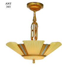 antique chandelier art deco streamline 6 light antique chandelier circa 1935 1937