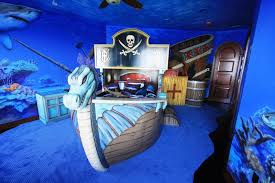 Pirate Ship Bedroom by Carribean Bedroom Themed For Childrens With Pirate Ship Shaped