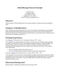 No Job Experience Resume Examples by Retail Experience Resume Resume For Your Job Application