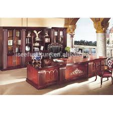 Solid Oak Office Furniture by Antique Solid Wood Executive Office Furniture For Boss Office