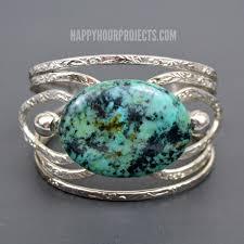 diy bracelet stones images Diy stone cuff bracelets happy hour projects jpg