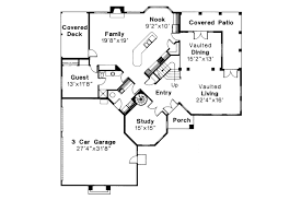 guest house floor plans spanish style house plans stanfield 11 084 associated designs