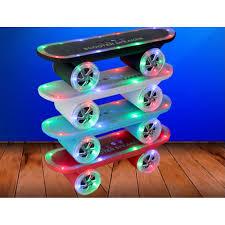 Skateboard Shelf Skateboard Scooter Led Portable Bluetooth Speaker Rc1019 Blue