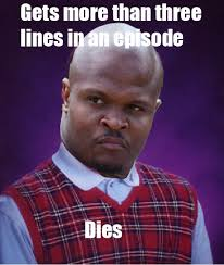 T Dogg Walking Dead Meme - bad luck t dog