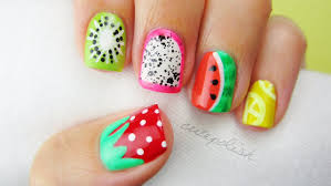 unique summer nail art with fruit painting ideas womenitems com