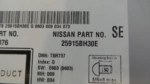 nissan qashqai sat nav used qashqai 2014 sat nav unit with cd radio u0026 bluetooth 25915bh30e