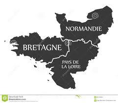 Map France by Bretagne Normandie Pays De La Loire Map France Stock