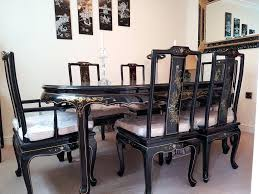 black lacquer dining room chairs oriental dining table prices rosewood chinese style getexploreapp com