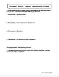 probability and counting rules worksheet bundle by ashley spencer