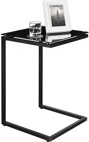 Glass And Metal Sofa Table C Shaped Metal Accent Table Protipturbo Table Decoration
