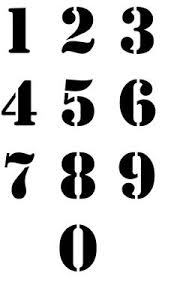 printable varsity number stencils numbers i can use to make address stencils crafty pinterest
