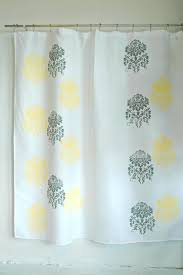 Yellow White Curtains Yellow And White Bathroom