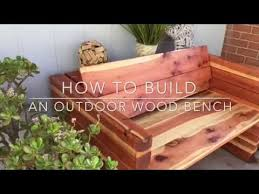 How To Build Wood Bench How To Build An Outdoor Wood Bench Youtube