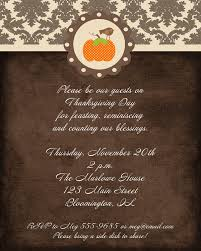 thanksgiving dinner invitations