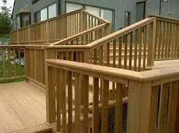 deck stair railing outdoor step railing ideas more simple deck
