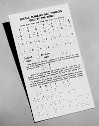 Alphabet Blind Product Braille Alphabet And Numbers Card