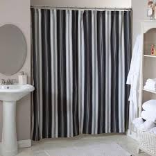 Black And White Stripe Curtains Black And White Striped Shower Curtain For Stylish Bathroom Rilane