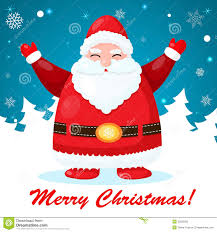 funny and cute christmas card with santa royalty free stock photo