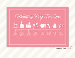 wedding day program wedding day itinerary for guests printable editable blank