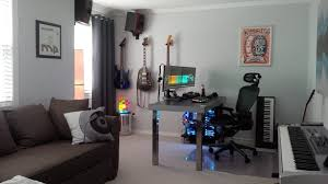 gaming and music studio office via reddit user revlogic gaming