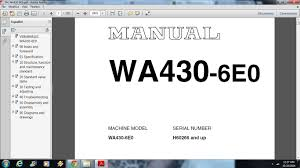komatsu wa430 6e0 wheel loader service repair workshop manual