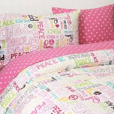Girls Peace Sign Bedding by Bedding Anyone Surprised It Has Peace Signs And Words Adorable