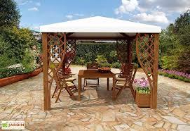 tonnelle de jardin en bois tonnelle bois autoclave pvc calice 299x299cm plusieurs coloris