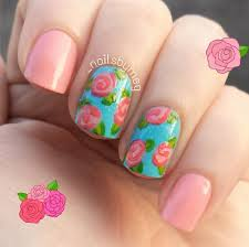 rose accent nails by instagram u0027s nailsbymeg floral nail art