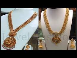 long chain fashion necklace images Latest long haram designs gold long chains designs jpg