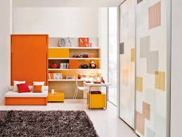 modern orange kids room interior design ideas
