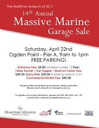 massive marine garage sale the maritime museum of british columbia