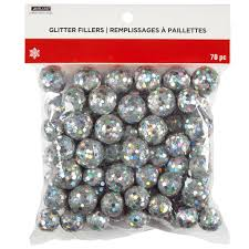 find the silver glitter balls by ashland at