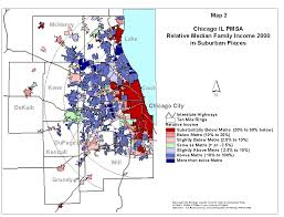 Map Chicago Il by Income Change In Suburbs 1990 To 2000