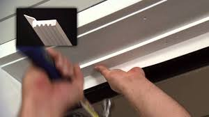 how to install vinyl thermostop garage door trim youtube