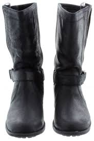 motorcycle boots australia ugg silva biker calf boots in black